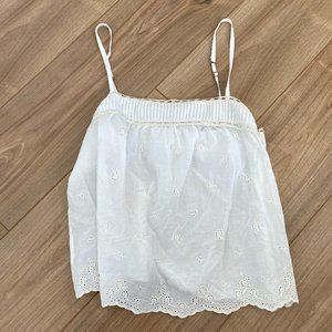 Hollister White Flowy Adjustable Camisole